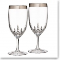 Waterford Lismore Essence Platinum Wide Band Iced Beverage, Pair