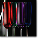 Marquis By Waterford Vintage Jewels Colored Flutes, Set of Four