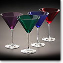 Marquis By Waterford Vintage Jewels Colored Martini, Set of 4