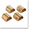 Michael Aram Hammertone Gold Napkin Rings, Set of 4