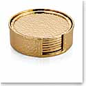 Michael Aram Hammertone Gold Drink Coasters, Set of 6