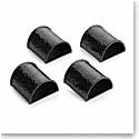 Michael Aram Hammertone Black Napkin Rings, Set of 4