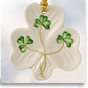 Belleek China 2018 Shamrock Shaped Ornament
