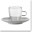 Jenaer Glas Tea Cup With Porcelain Saucer