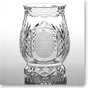Galway Crystal Irish Blessing Pillar Hurricane Lamp