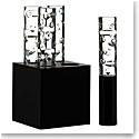 Baccarat Jallum Pontil Candle Light, Set Of 4, Black