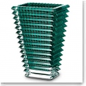 Baccarat Eye Rectangular Vase, Green