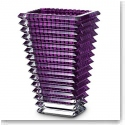 "Baccarat Eye Rectangular 8"" Vase, Amethyst"