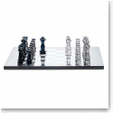 Baccarat Jeu Chess Set, Clear and Midnight Numbered