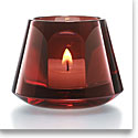 Baccarat Harcourt Baby Our Fire Votive, Red