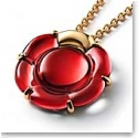 Baccarat B Flower Large Necklace, Red Mirror and Vermeil