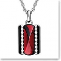 Baccarat Louxor Necklace, Silver and Red Mirror
