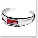Baccarat Louxor Small Bracelet, Silver and Red Mirror