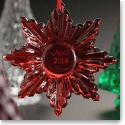 Baccarat 2014 Annual Noel Ornament, Red Mirror