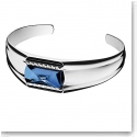 Baccarat Louxor Large Bracelet, Silver and Blue Mordore
