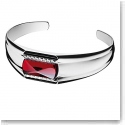 Baccarat Louxor Large Bracelet, Silver and Red Mirror