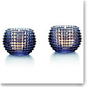 Baccarat Blue Eye Votive, Pair
