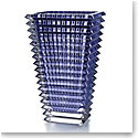 Baccarat Eye Large Rectangular Vase, Blue