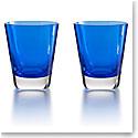 Baccarat Mosaique Blue Tumbler, Pair