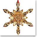 Baccarat 2017 20K Gold Snowflake Ornament