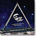 "Crystal Blanc 10 1/2"" Pyramid Award"