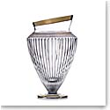 "Rogaska Amphora Vase 13"" Gold"