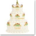 Lenox 2015 Our First Christmas Together Cake Ornament