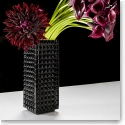 "Waterford Fleurology Kylie 12"" Black Vase"
