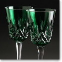 Waterford Lismore Goblet Emerald, Pair