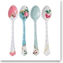 Royal Albert China New Country Roses Vintage Mix Set of 4 Ceramic Spoons