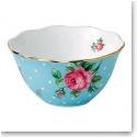 Royal Albert China New Country Roses Polka Blue Bowl, Single