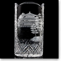 "Waterford House of Waterford Pagoda 12"" Engraved Vase"