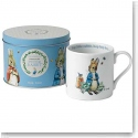 Wedgwood China Peter Rabbit Mug in A Tin, Blue