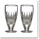 Waterford Lismore Diamond Platinum Iced Beverage, Pair