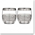 Waterford Mixology Mad Men Circon DOF With Platinum Band, Pair