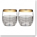 Waterford Mixology Mad Men Circon DOF With Gold Band, Pair