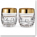 Waterford Mixology Mad Men Olson DOF With Gold Band, Pair