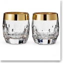 Waterford Mixology Mad Men Draper DOF With Gold Band, Pair