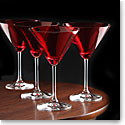 Marquis By Waterford Vintage Red Martini, Set of Four