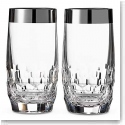Waterford Mixology Mad Men Draper Hi Ball With Platinum Band, Pair