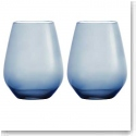 Vera Wang Wedgwood Hue Indigo Stemless Red Wine, Pair