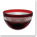 Waterford John Rocha Red Cut Bowl, Large