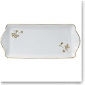 Wedgwood China Wild Strawberry Al Fresco Sandwich Tray, Gold