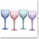 Marquis By Waterford Brookside Pastels Goblet, Set of Four (Aqua, Blue, Purple, Pink)