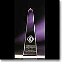 "Crystal Blanc, Personalize! 6"" Optical Obelisk"