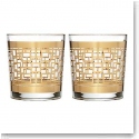 Waterford Mad Men Holloway Gold Patterned DOF, Pair
