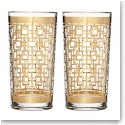 Waterford Mad Men Holloway Gold Patterned Hiball, Pair