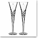 Waterford Wishes Happy Celebrations Flute Pair, Monogram Block A