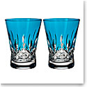 Waterford Lismore Pops Aqua DOF, Pair