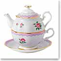Royal Albert China Candy Love Lilac Tea For One